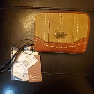 BOC wallet with wrist strap